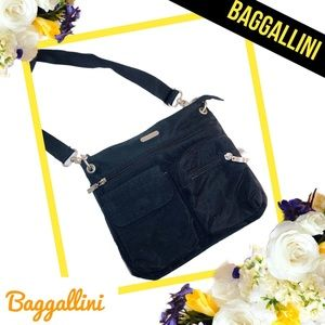 BAGGALLINI Black Nylon Crossbody